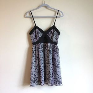 Sexy purple leopard Forever 21 dress with cut out